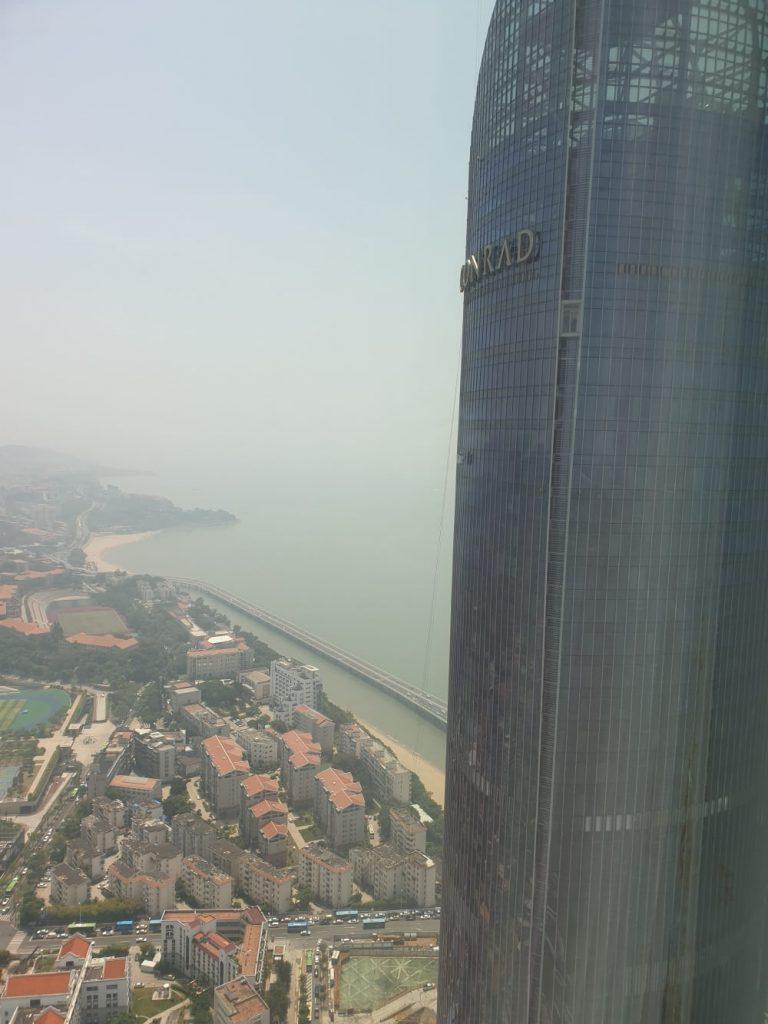 Aussicht aus unserer Wohnung im Wolkenkratzer