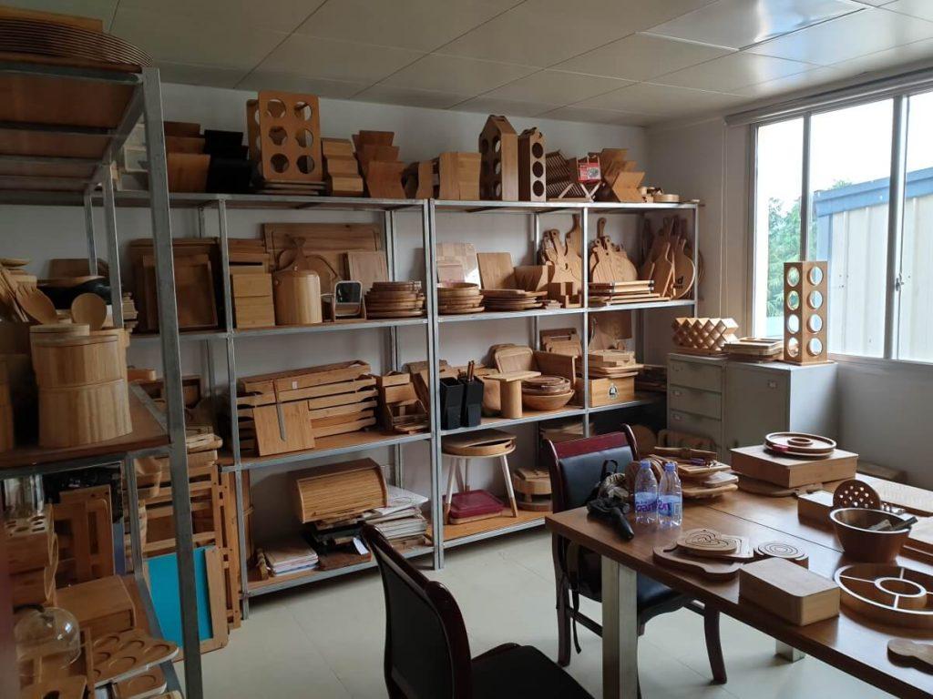 sample rooms / Ausstellungsraumes unseres Bambuslieferanten