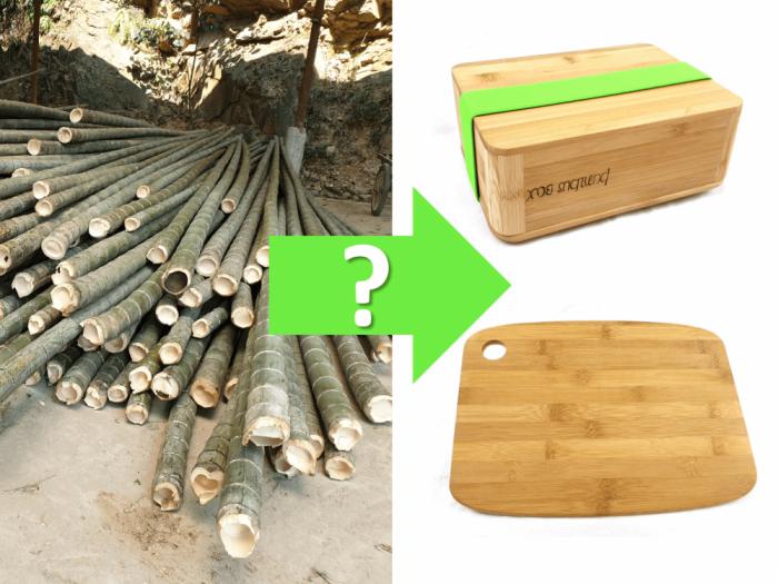 Herstellung Bambus Schneidebrett